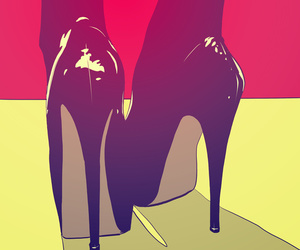 shoes, art, and black image