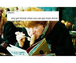 always, food, and harry potter image