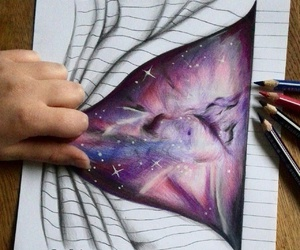 amazing, galaxy, and art image