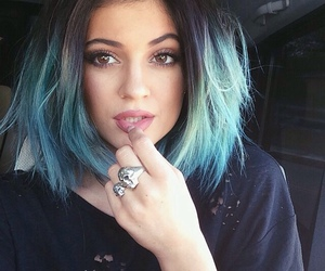 kylie jenner, hair, and blue image