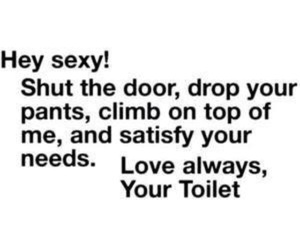 funny, sexy, and toilet image