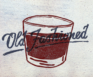 old fashioned, real men, and whiskey image