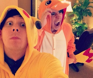 danisnotonfire, amazingphil, and pokemon image