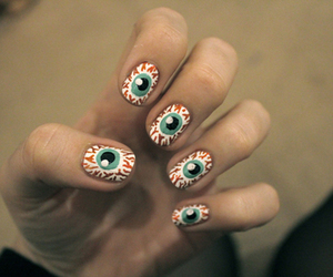 nails, Halloween, and eye image