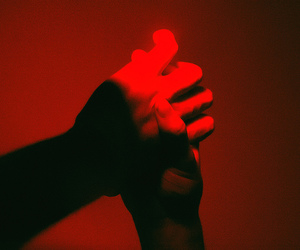 red and hands image