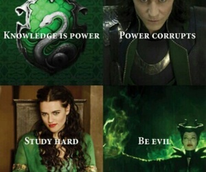 maleficent, slytherin, and harry potter image