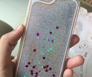glitter, iphone, and silver image