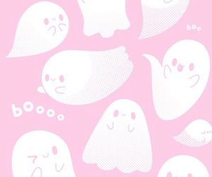 pink, ghost, and boo image