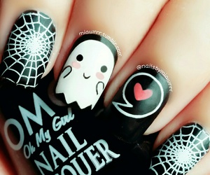 Halloween, nails, and nail art image