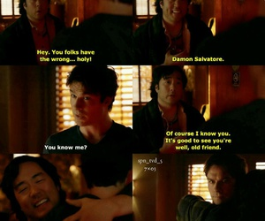 damon salvatore, tvd, and heretic image