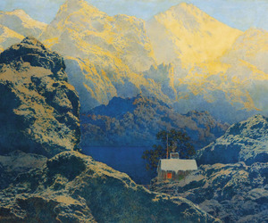art, landscape, and maxfield parrish image