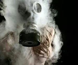 smoke, mask, and weed image