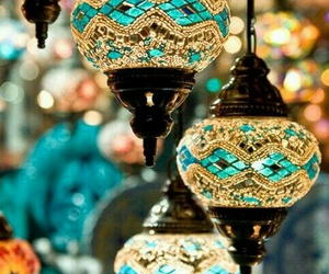 lamp, light, and blue image