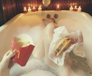 bath, food, and goals image