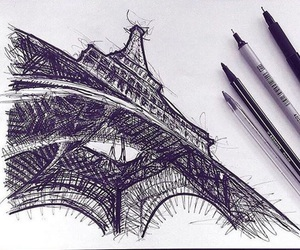 art, paris, and drawing image