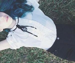 blue hair, alternative, and grunge image