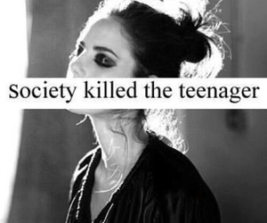 society, teenager, and sad image