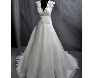 dress, wedding, and gown image