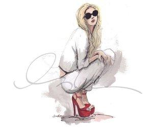 fashion, drawing, and illustration image