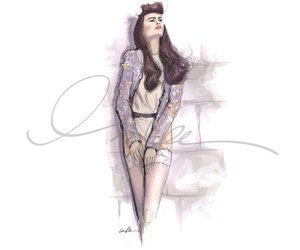 fashion, draw, and drawing image