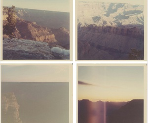 grand canyon, photography, and polaroid image