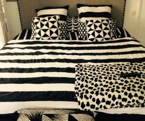 bed, bedroom, and blackandwhite image