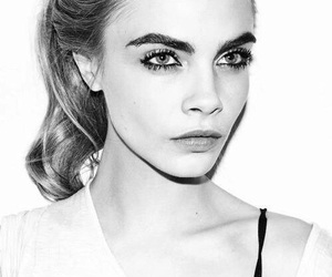 cara delevingne, black and white, and fashion image