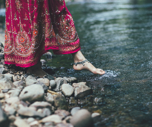 water, nature, and feet image