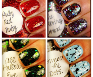 glitter, nail polish, and sparkle image