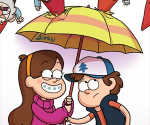gnomes, gravity falls, and dipper pines image