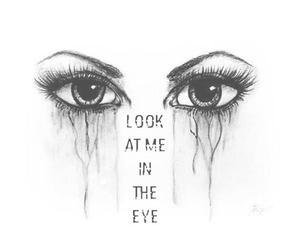 cry, eyes, and art image