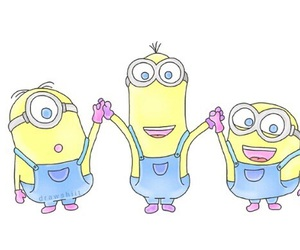 minions, overlay, and background image