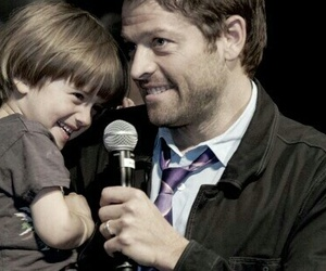 misha collins, supernatural, and west collins image