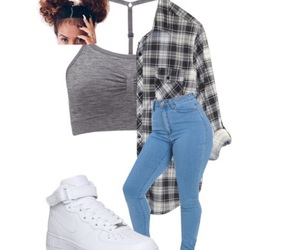 cool, flannel, and nike image