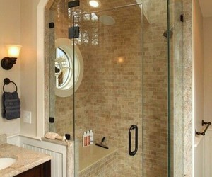 bathroom, shower, and interior image