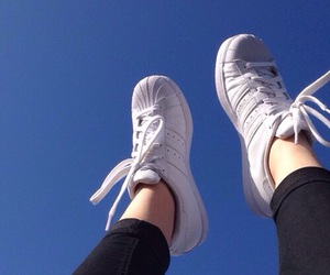 sky, adidas, and blue image