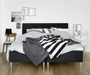 bedroom, girls, and black image