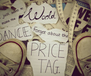 price tag, dance, and world image