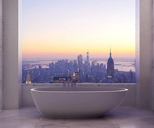 bath, bathroom, and city image