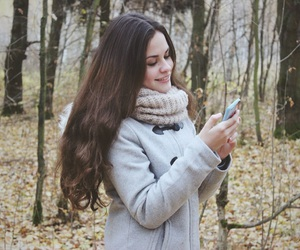 autumn, coat, and cutie image
