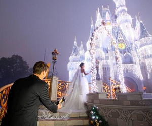 wedding, disney, and disneyland image