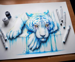 art, blue, and cool image