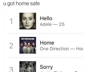 home, sorry, and Adele image