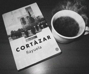 book, coffee, and cortazar image