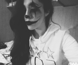 clown, make+up, and Halloween image