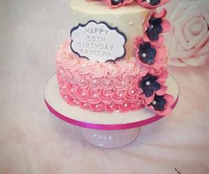 birthday, butter cream, and cake image