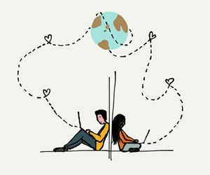 distance, Relationship, and love image