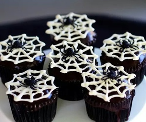 Halloween, cupcakes, and spider image
