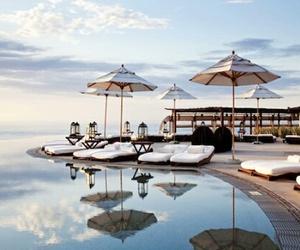 summer, pool, and luxury image
