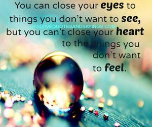 heart, quote, and eyes image
